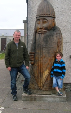 At Uig Community Centre, near where the Lewis chess pieces were found.