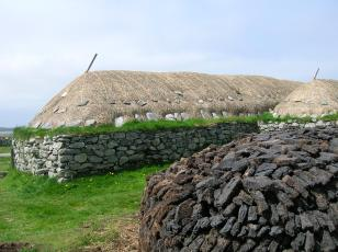 Stack at blackhouse museum, Arnol.