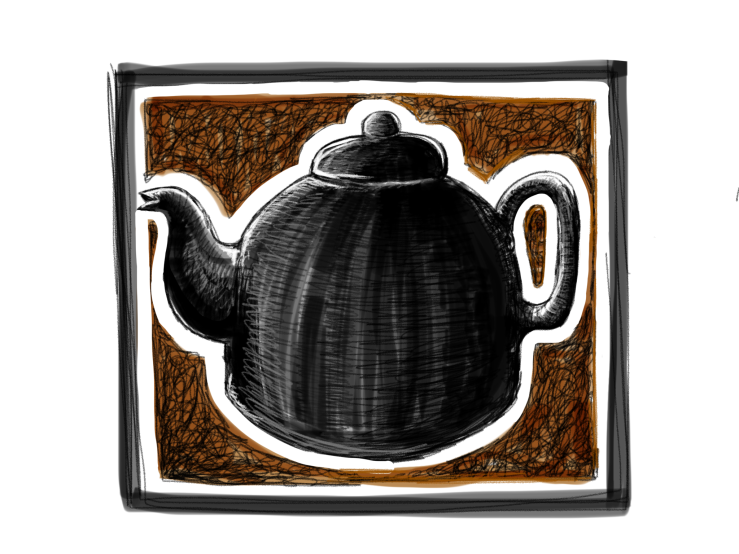 Black teapot, black tea