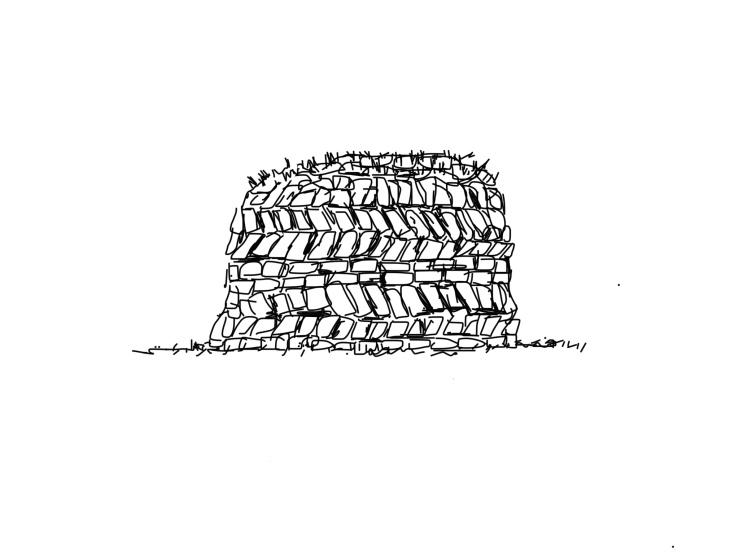 P.107 Peat Stack; Cruach Mona