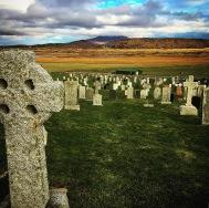 Celtic cross, Hallan Cemetery, South Uist